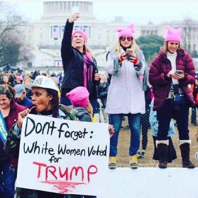 Angela Peopl'es Women's March 2017
